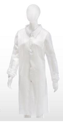 veste visiteur avec bouton pression, blanche