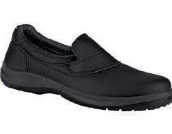 Chaussures de sécurité, noires, sans lacet