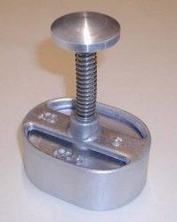 Forme à hamburger ovale, aluminium